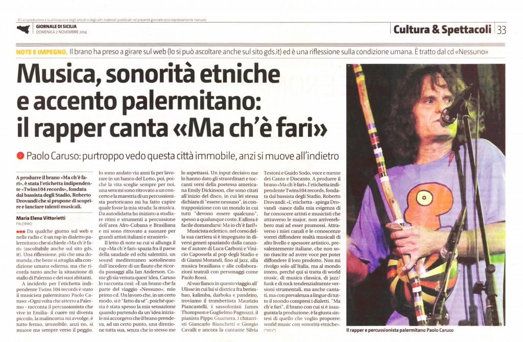 Paolo_Caruso_Nessuno - Giornale di Sicilia